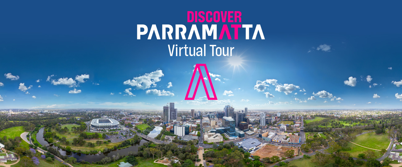 Parramatta Virtual Tour with view of the city