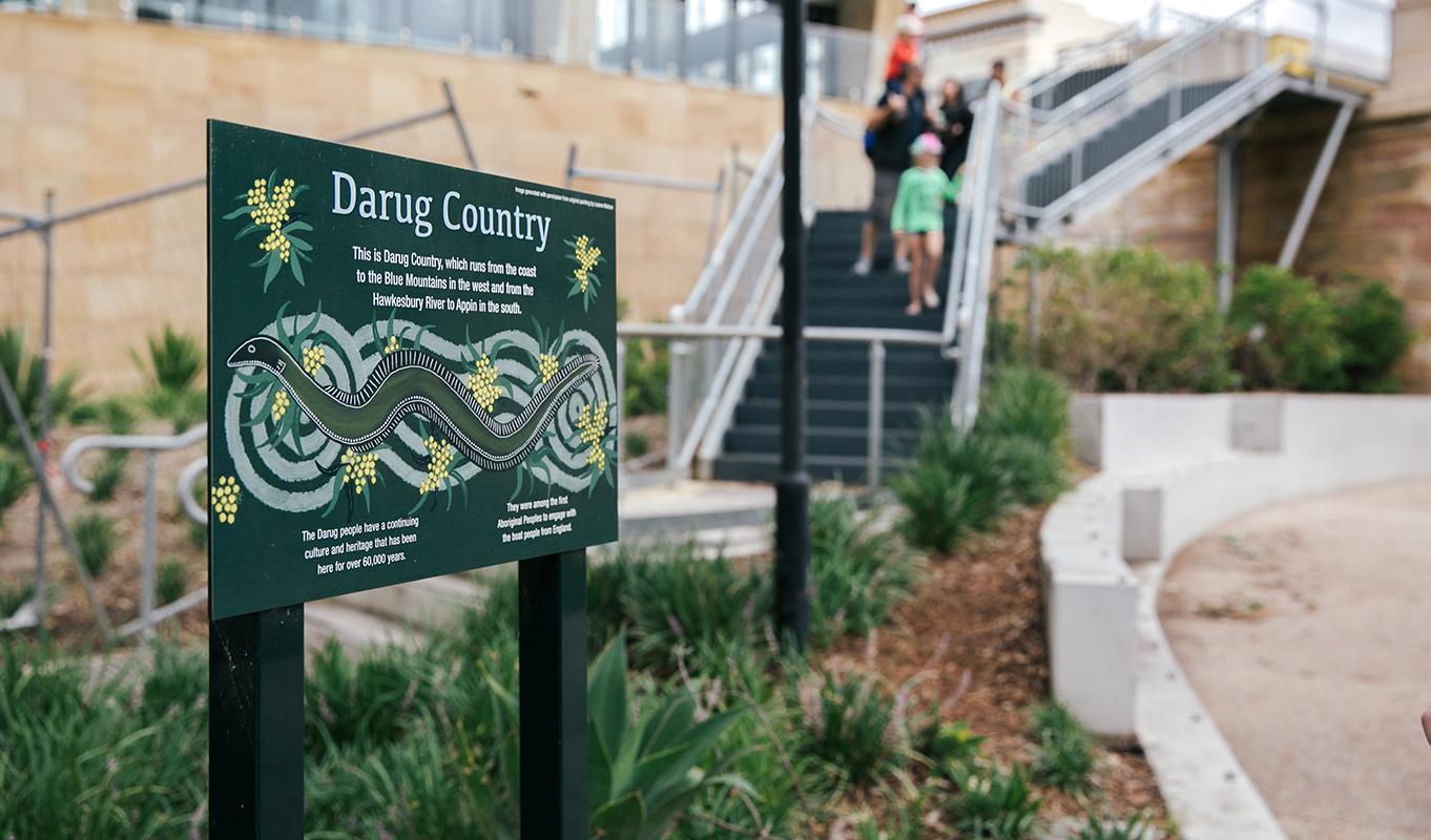 Parramatta River Darug Sign