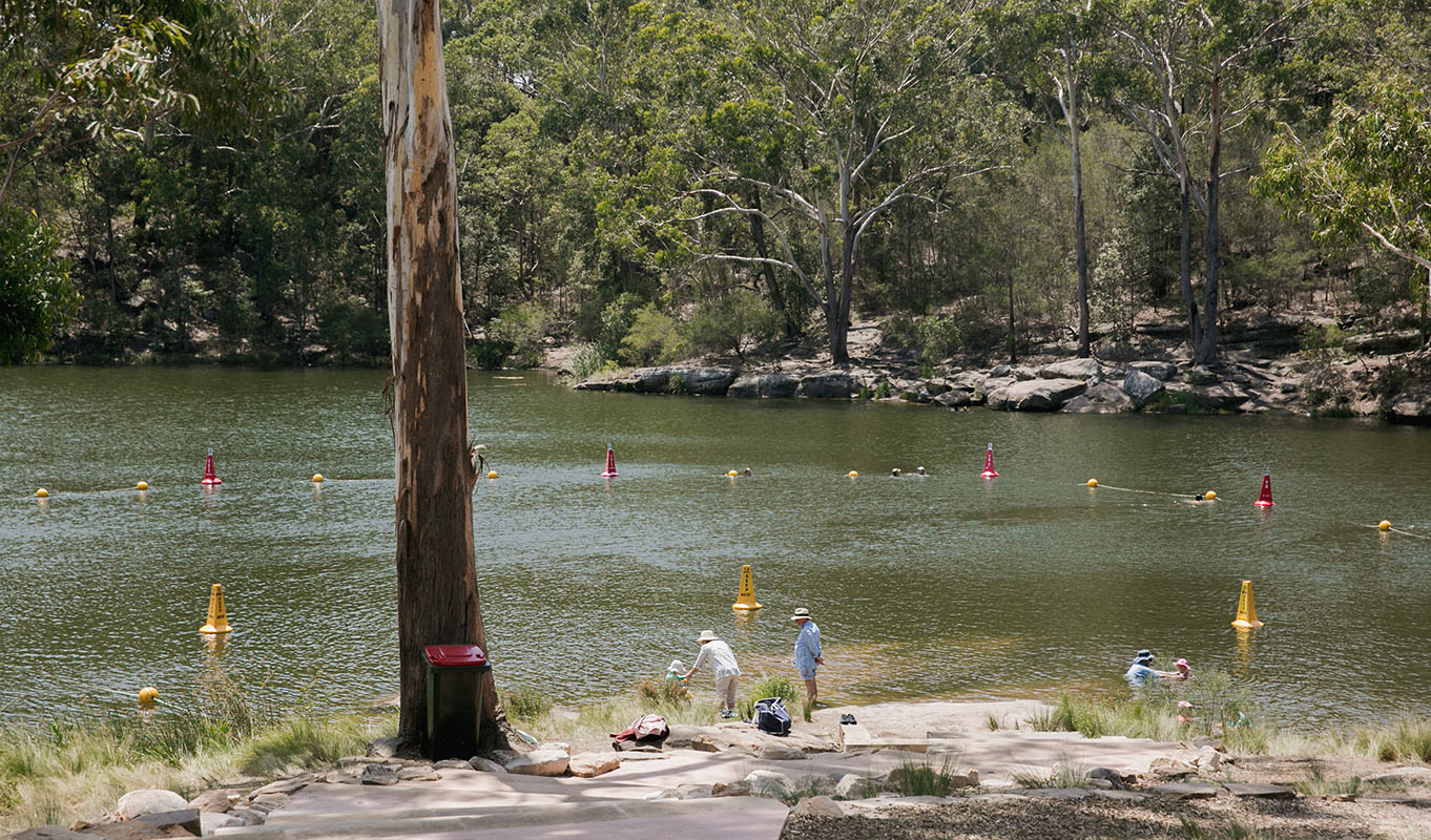 Summer swimming at Lake Parramatta