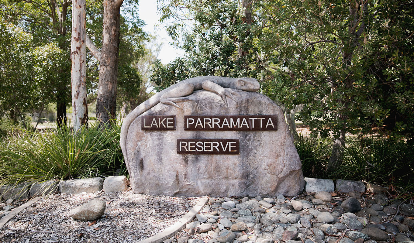 Lake Parramatta sign