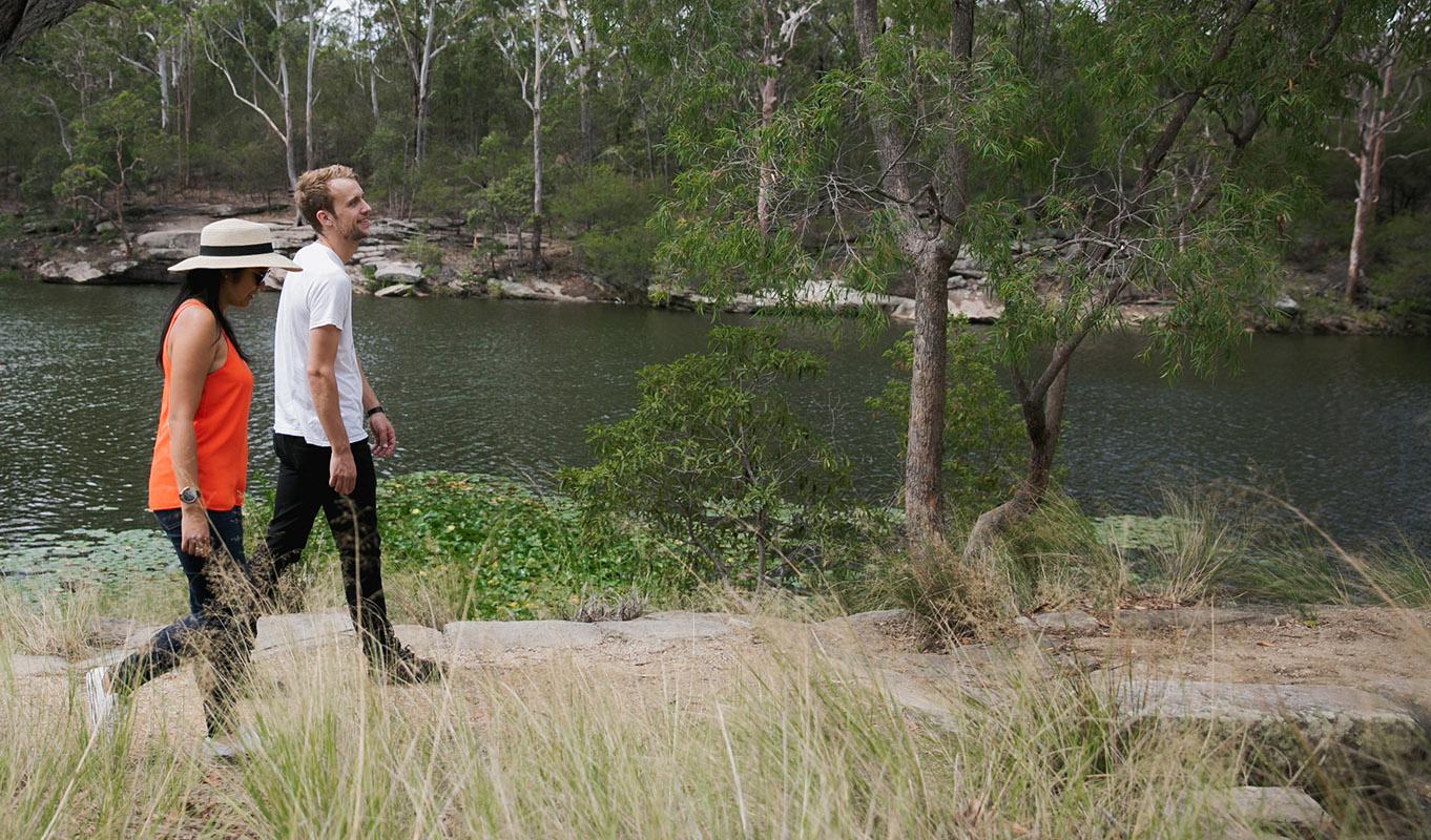 Bushwalk around Lake Parramatta.
