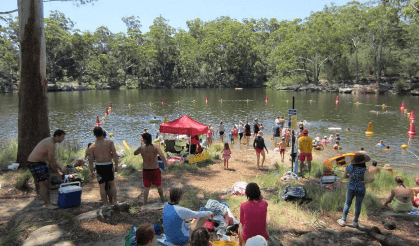 Swimming at Lake Parramatta