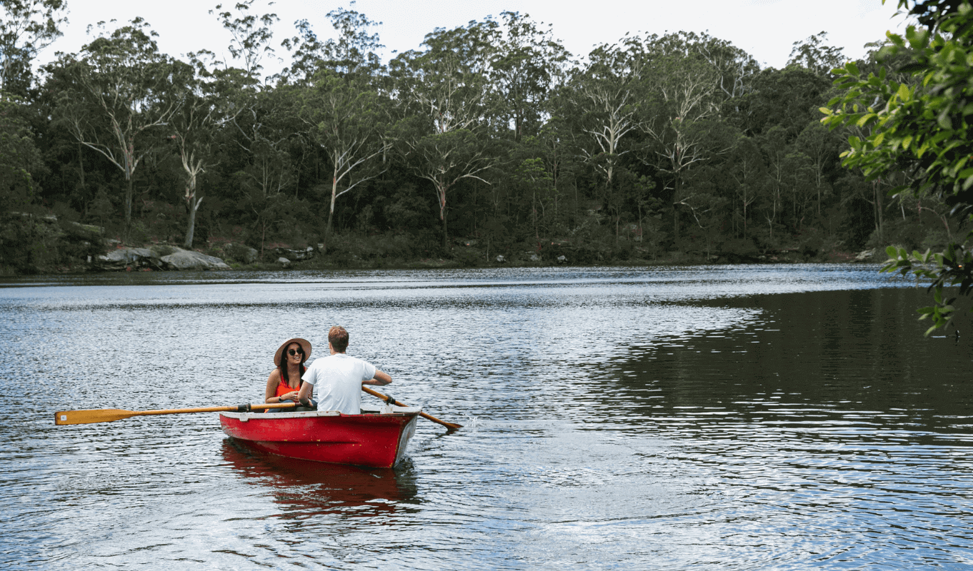 Boat rowing in Lake Parramatta