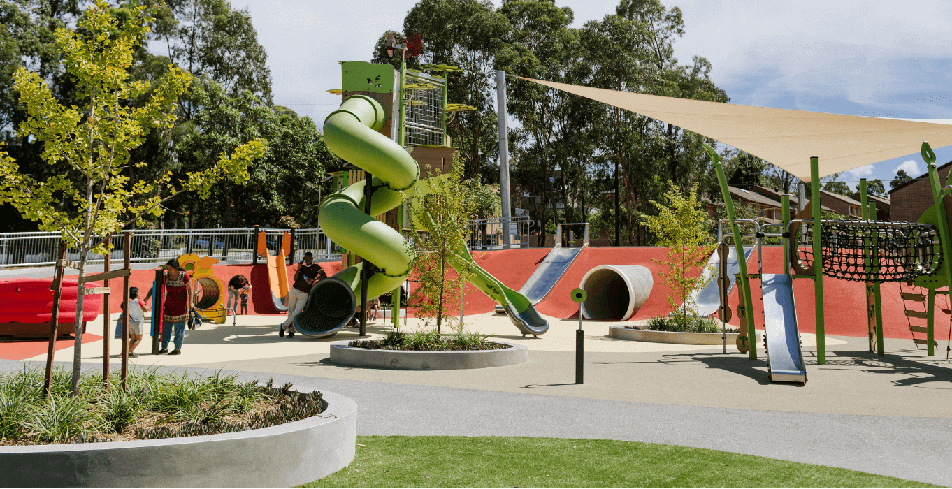 Play area at Ollie Webb Reserve
