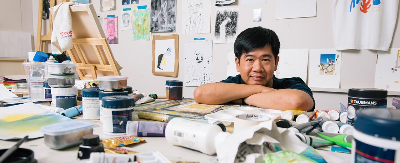 Garry Trinh in his studio