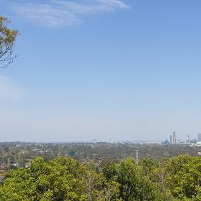 View of Parramatta CBD from the St Paul's Church Viewpoint in Winston Hills