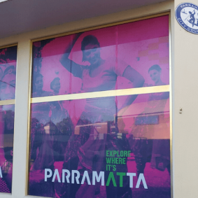 Front entrance Parramatta Visitor Information Centre
