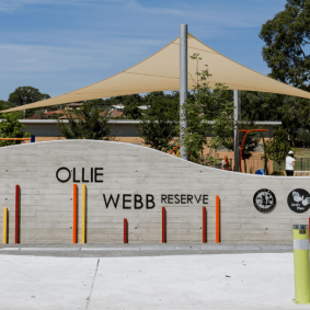 Ollie Webb Reserve Entrance