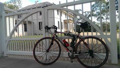 Bicycle outside Old Government House