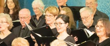 People singing in a choir