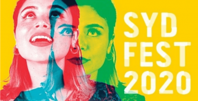 diptych of young woman with Sydney Festival 2020 logo