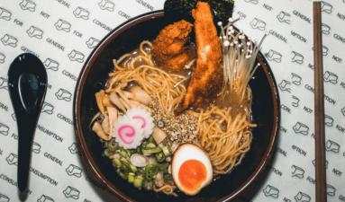 Bowl of Butter's fried chicken ramen